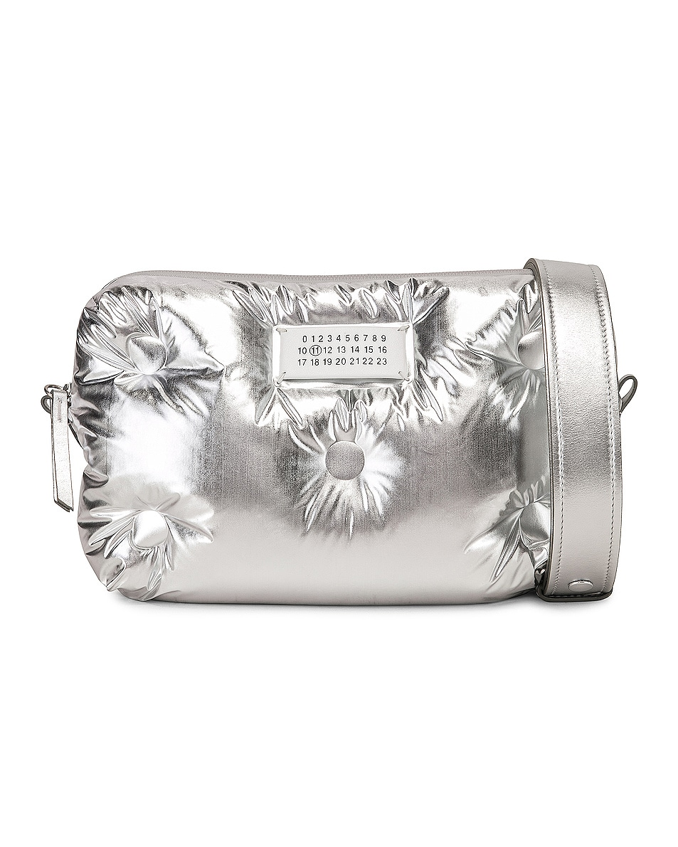 Image 1 of Maison Margiela Glam Slam Crossbody Bag in Silver