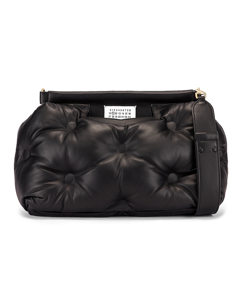 Image 1 of Maison Margiela Glam Slam Tufted Shoulder Bag in Black