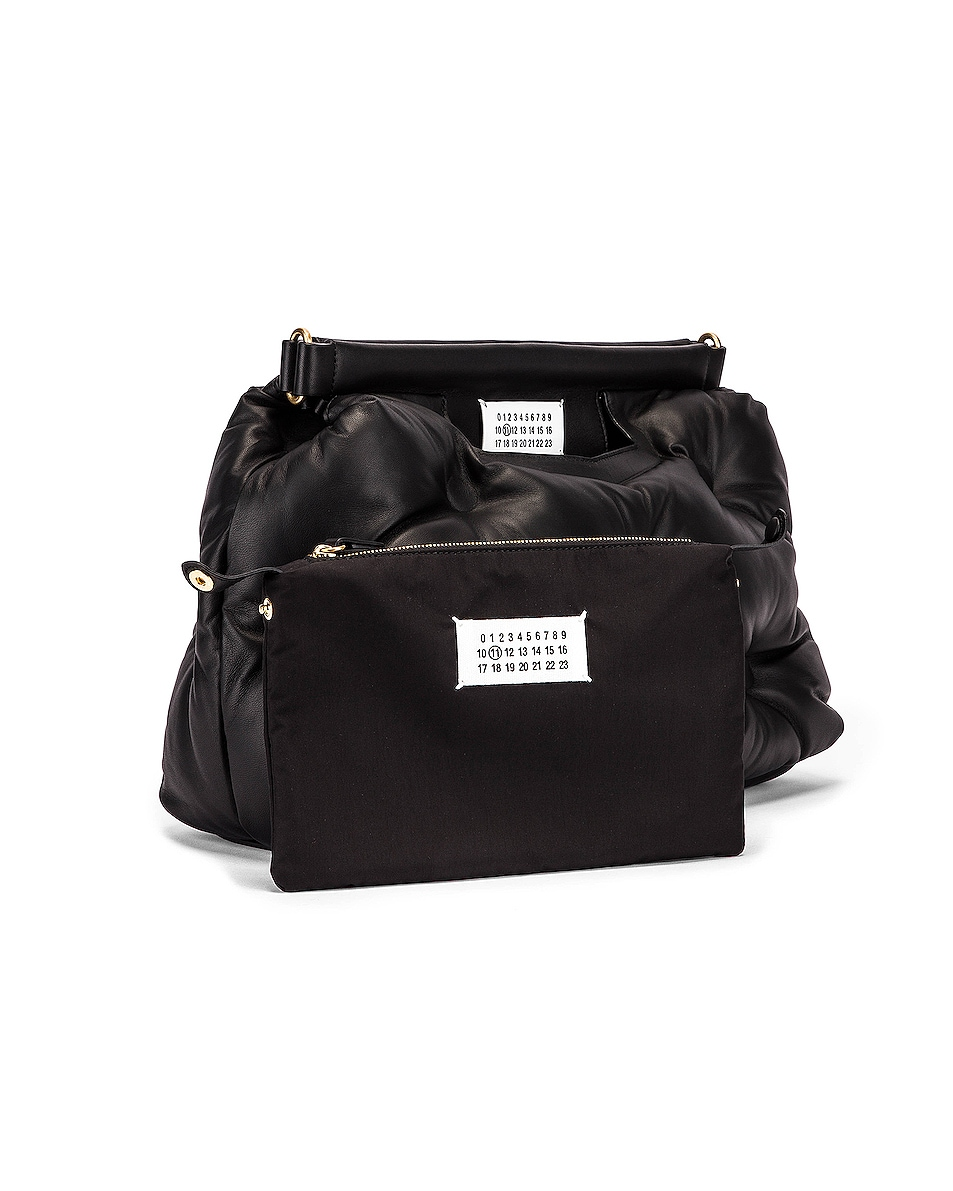 Image 4 of Maison Margiela Glam Slam Tufted Shoulder Bag in Black