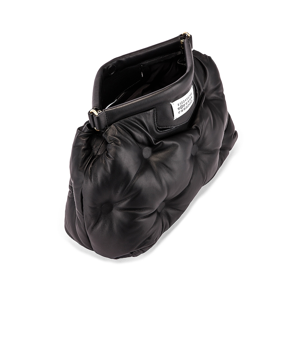 Image 5 of Maison Margiela Glam Slam Tufted Shoulder Bag in Black