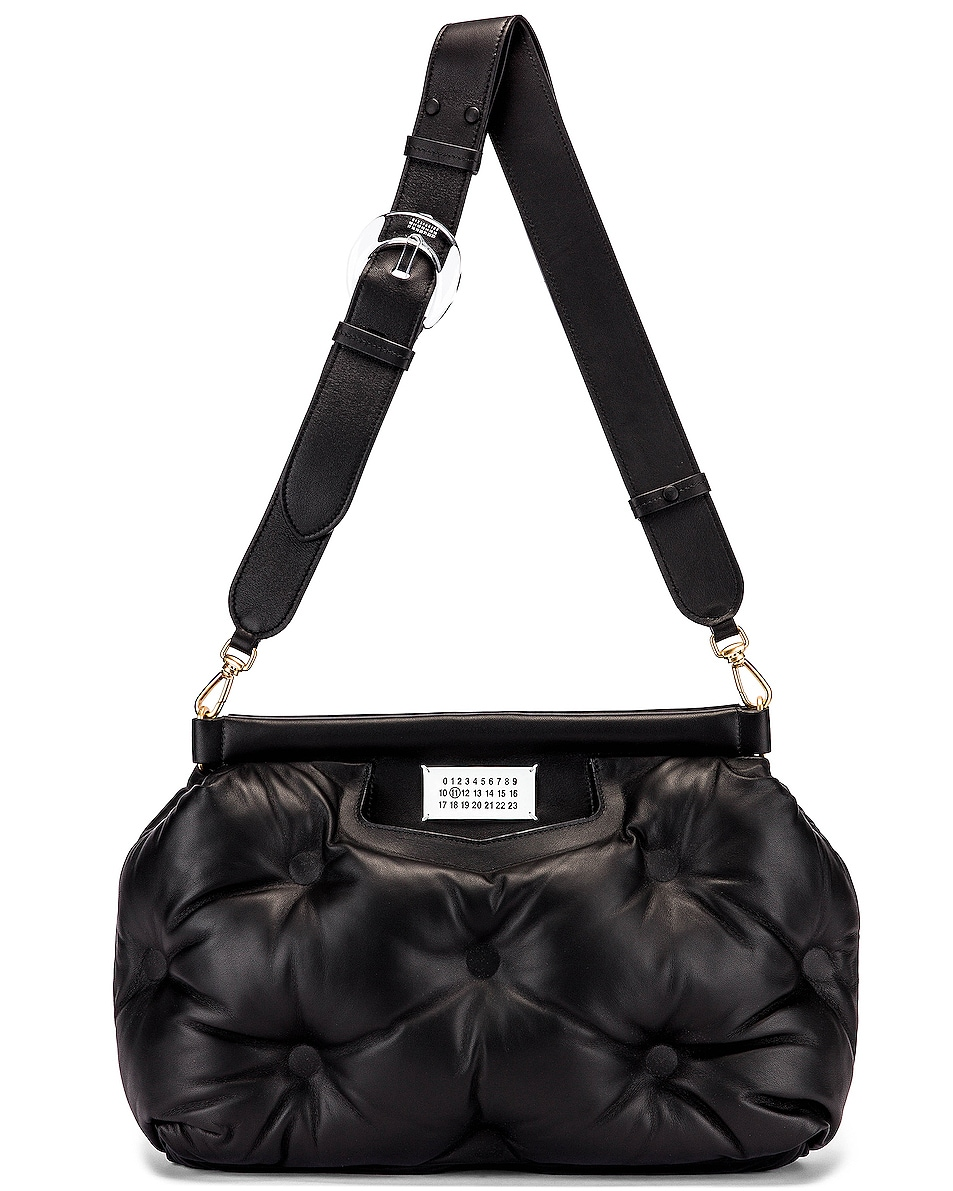 Image 6 of Maison Margiela Glam Slam Tufted Shoulder Bag in Black