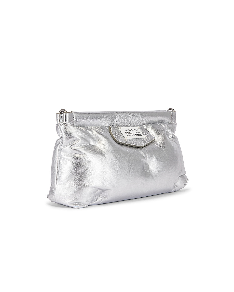 Image 4 of Maison Margiela Glam Slam Chain Crossbody Bag in Silver