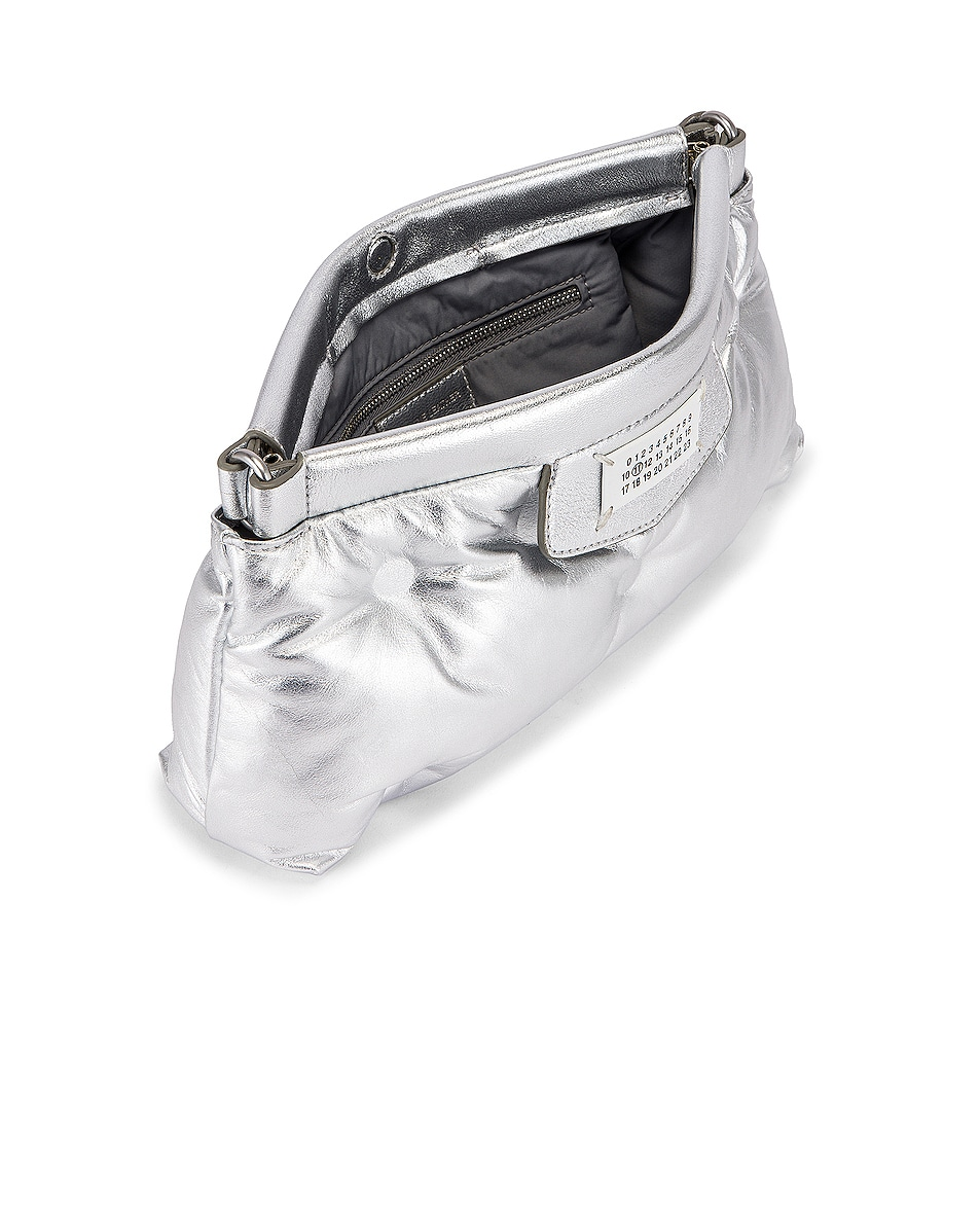 Image 5 of Maison Margiela Glam Slam Chain Crossbody Bag in Silver