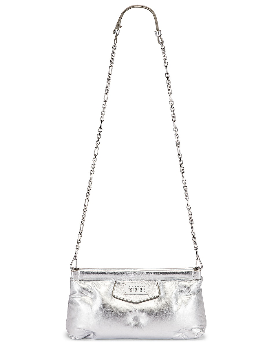 Image 6 of Maison Margiela Glam Slam Chain Crossbody Bag in Silver