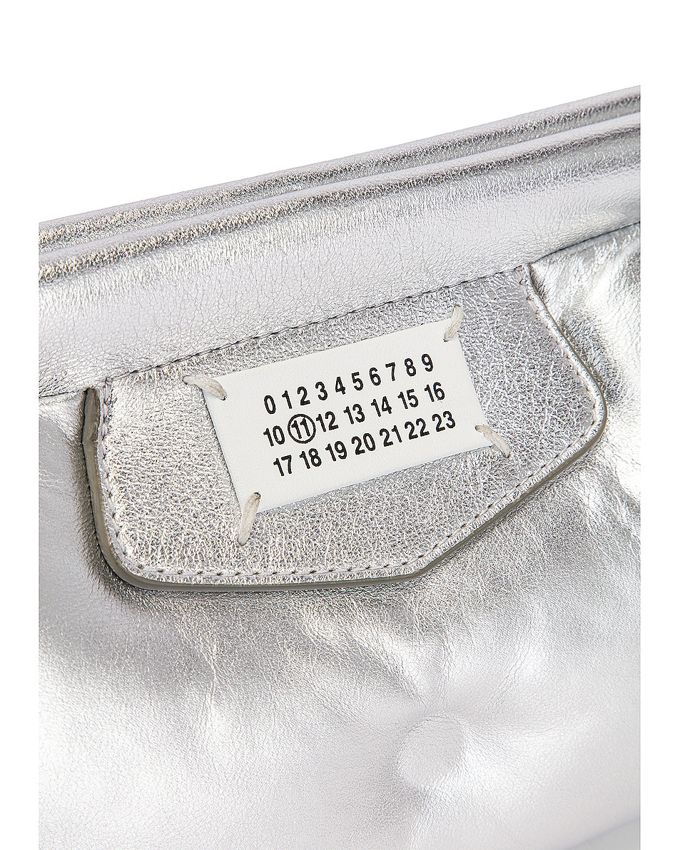 Image 7 of Maison Margiela Glam Slam Chain Crossbody Bag in Silver