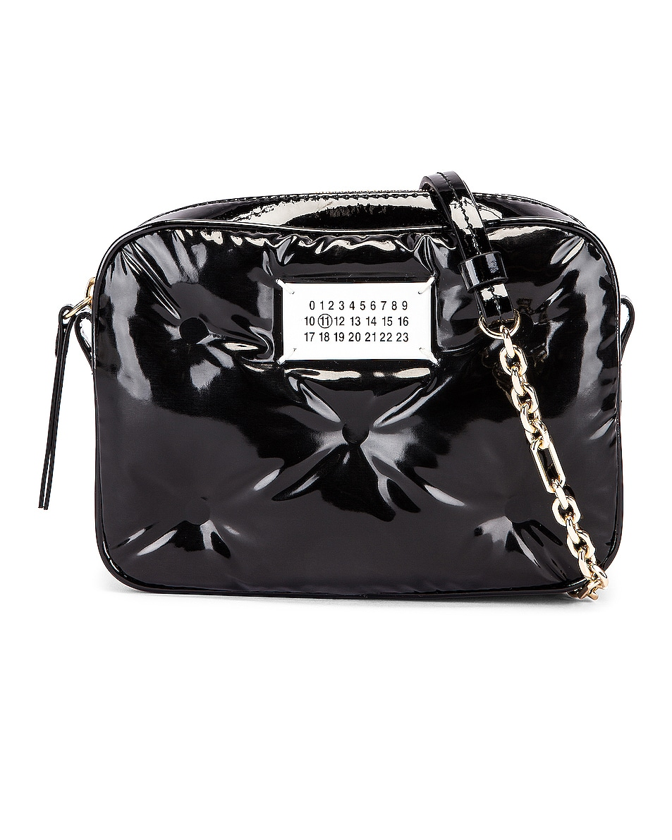 Image 1 of Maison Margiela Glam Slam Tufted Chain Crossbody Bag in Black