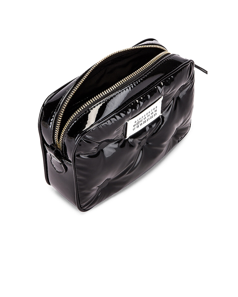 Image 4 of Maison Margiela Glam Slam Tufted Chain Crossbody Bag in Black