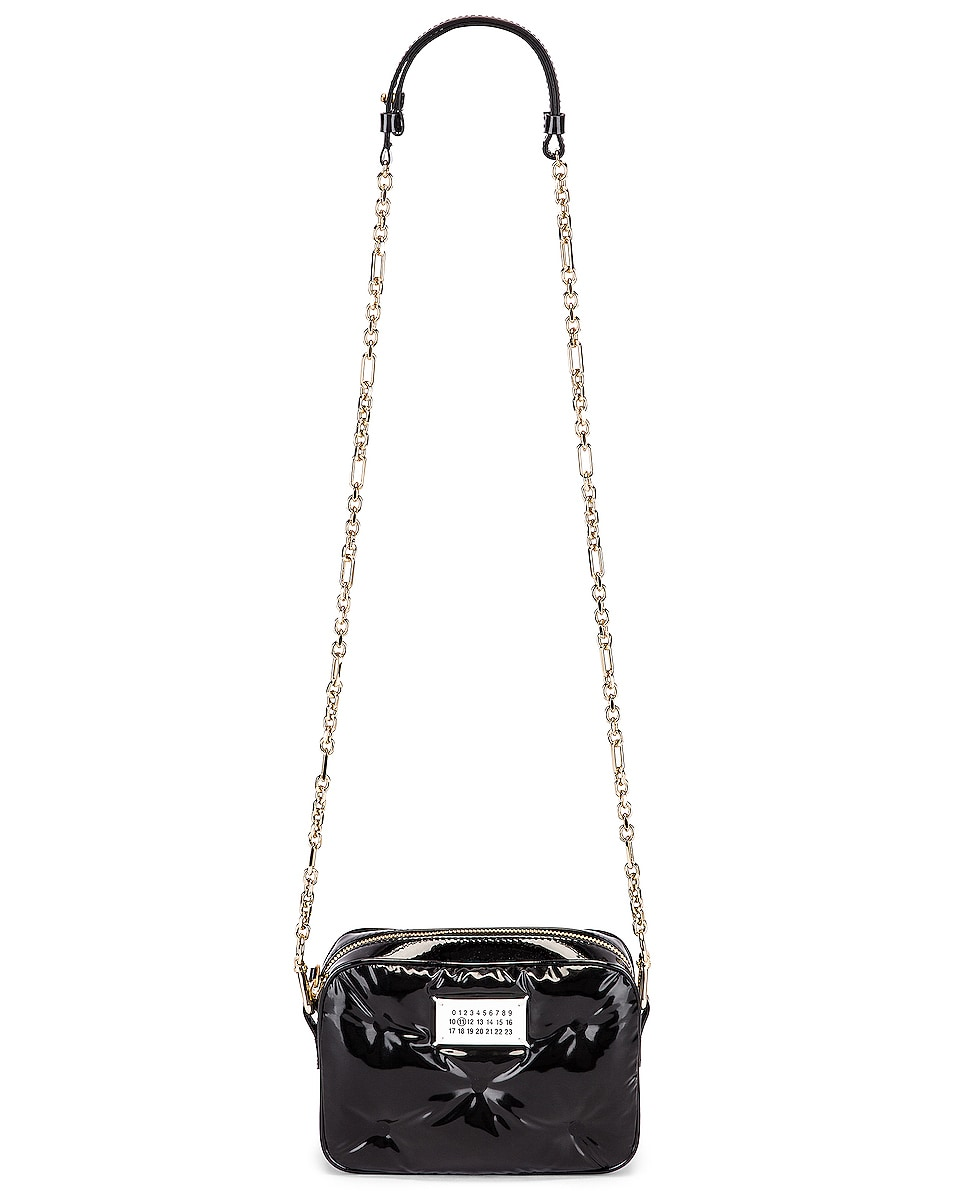 Image 5 of Maison Margiela Glam Slam Tufted Chain Crossbody Bag in Black