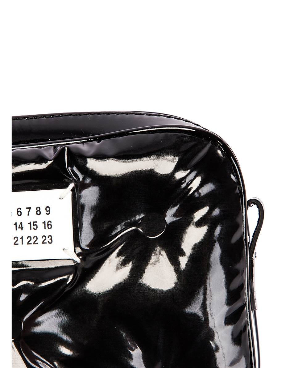 Image 8 of Maison Margiela Glam Slam Tufted Chain Crossbody Bag in Black