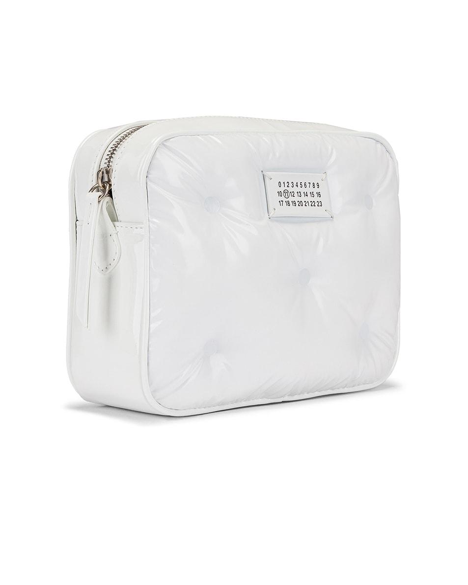 Image 3 of Maison Margiela Glam Slam Tufted Chain Crossbody Bag in White