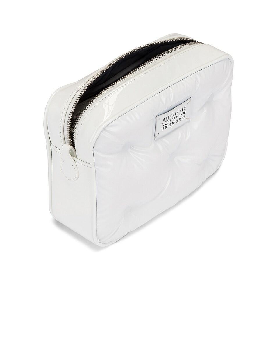 Image 4 of Maison Margiela Glam Slam Tufted Chain Crossbody Bag in White