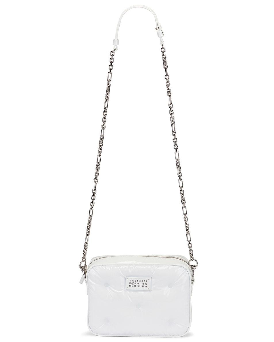 Image 5 of Maison Margiela Glam Slam Tufted Chain Crossbody Bag in White