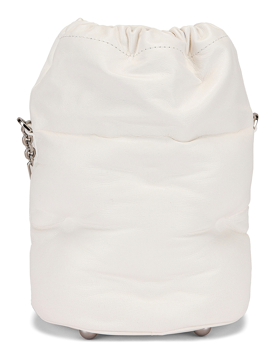 Image 3 of Maison Margiela Glam Slam Bucket Bag in White
