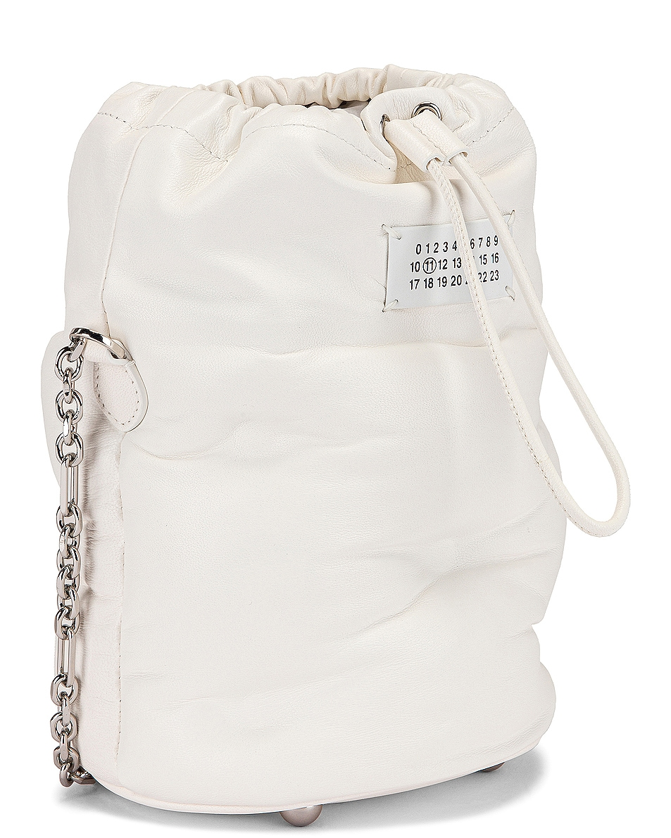 Image 4 of Maison Margiela Glam Slam Bucket Bag in White