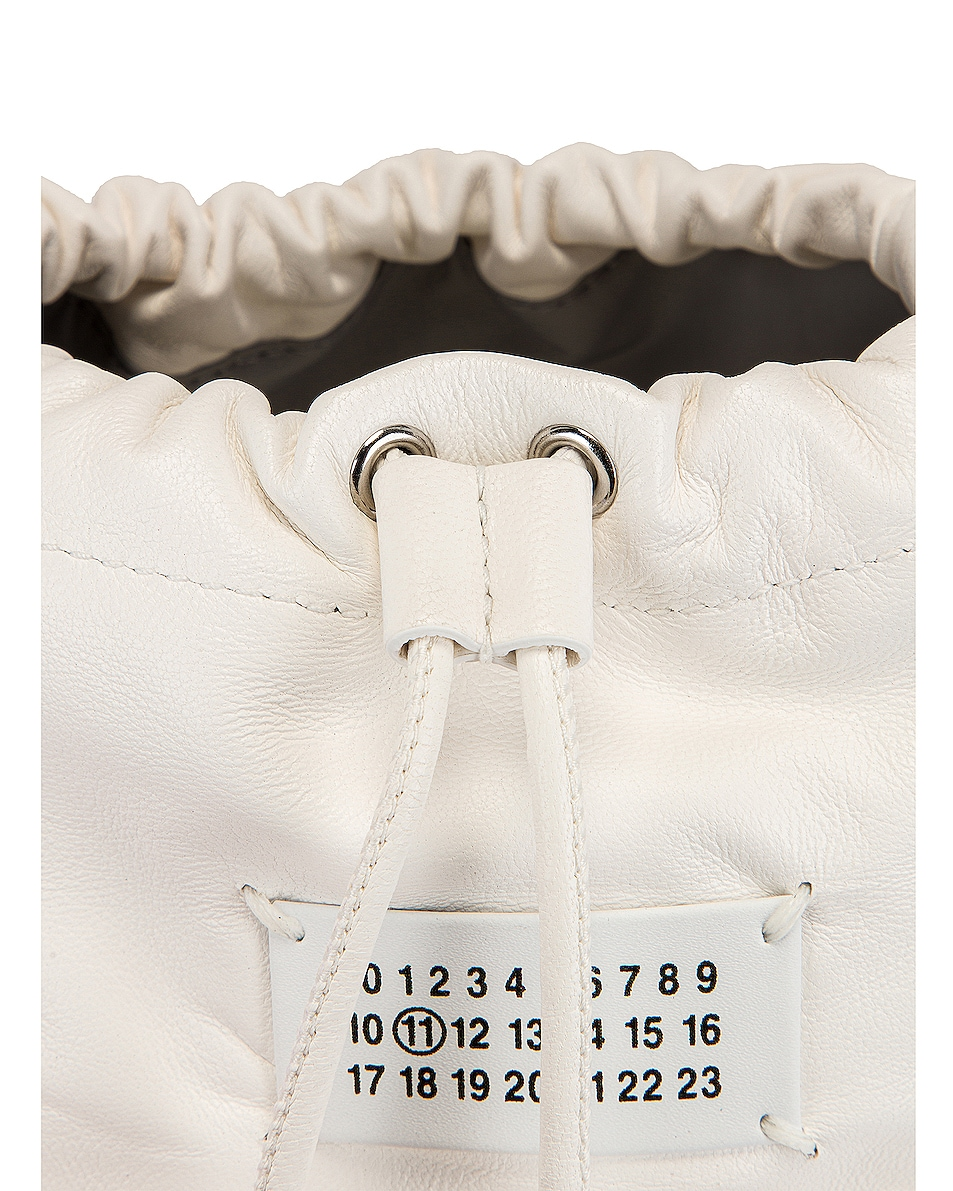 Image 8 of Maison Margiela Glam Slam Bucket Bag in White