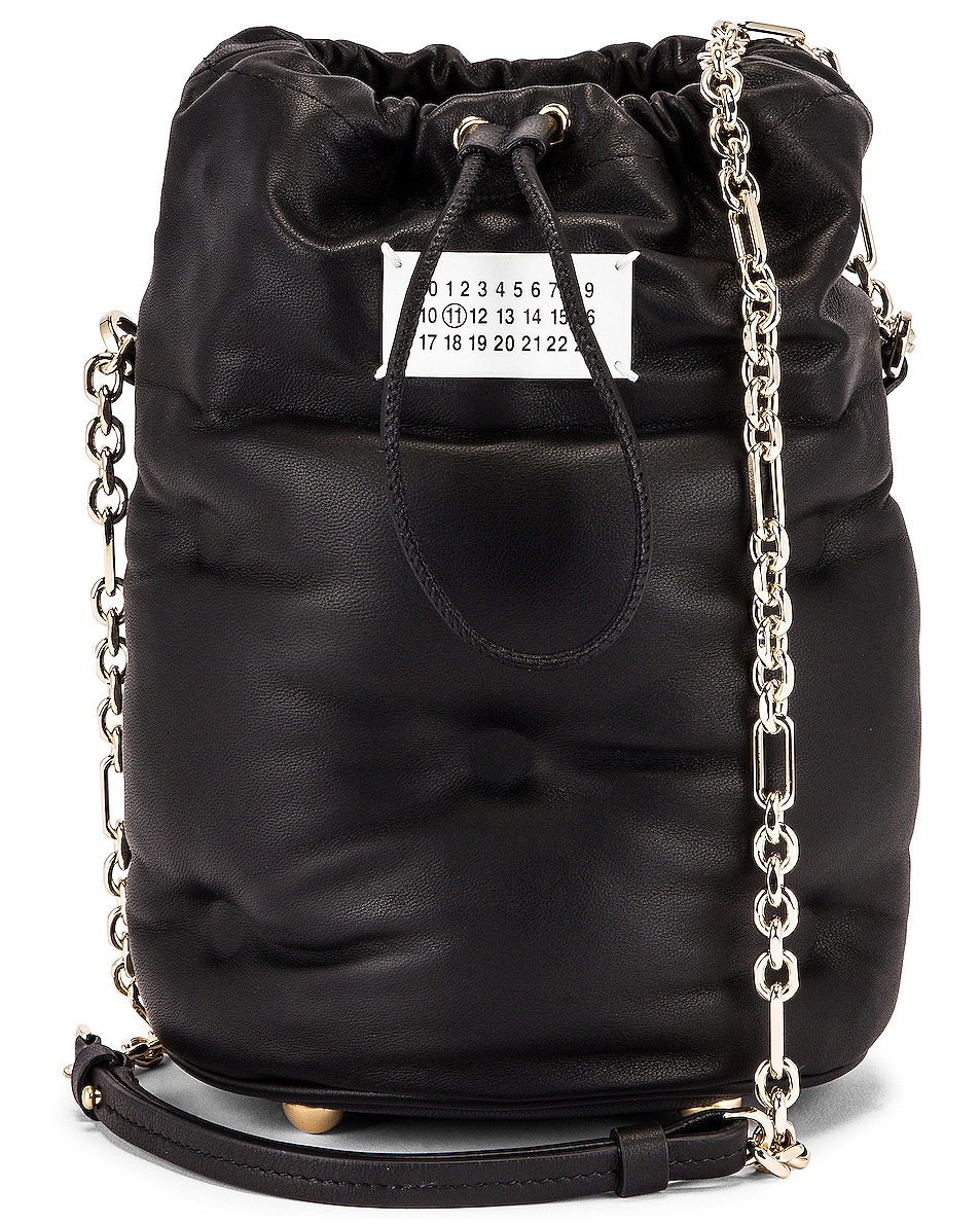Image 1 of Maison Margiela Glam Slam Bucket Bag in Black