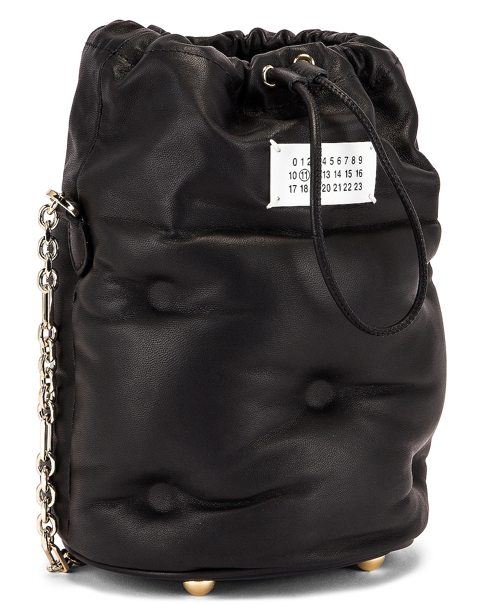 Image 4 of Maison Margiela Glam Slam Bucket Bag in Black