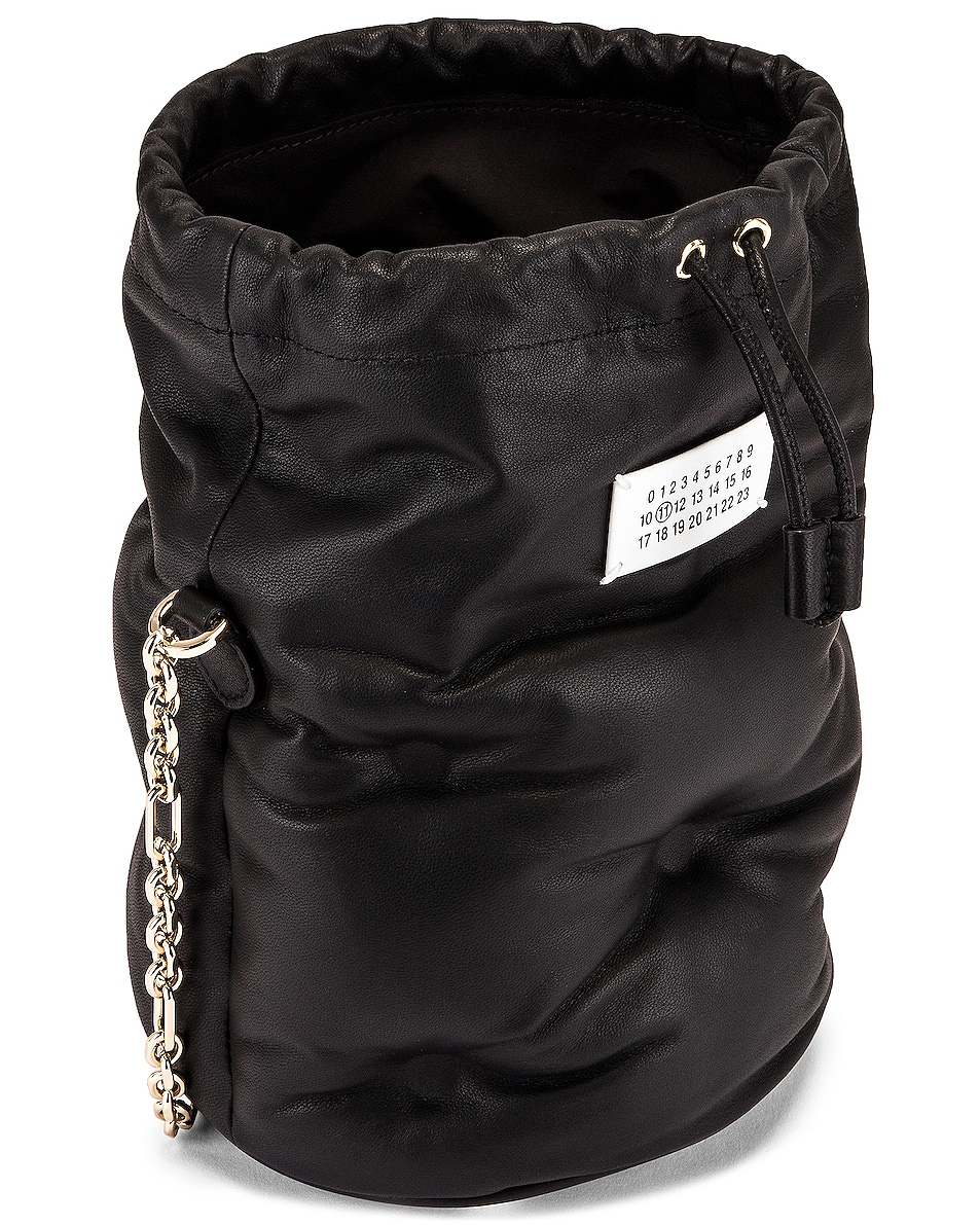 Image 5 of Maison Margiela Glam Slam Bucket Bag in Black
