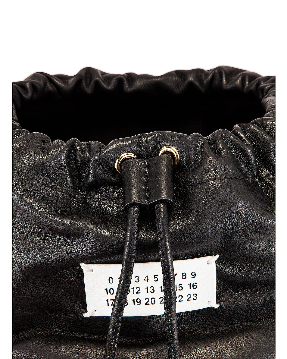 Image 8 of Maison Margiela Glam Slam Bucket Bag in Black