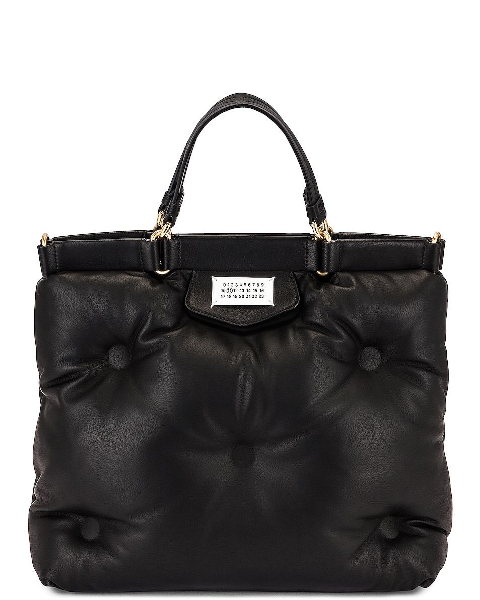 Image 1 of Maison Margiela Tufted Shopping Bag in Black