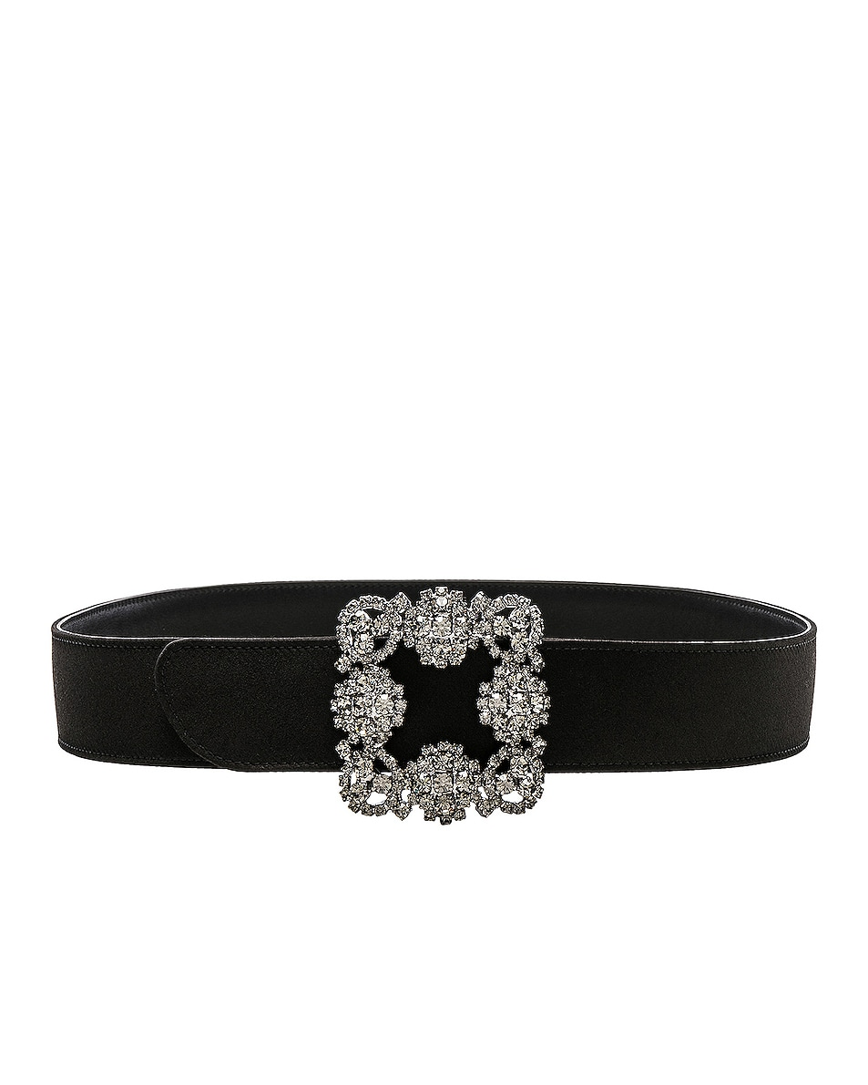Image 1 of Manolo Blahnik Hangisi Belt in Black