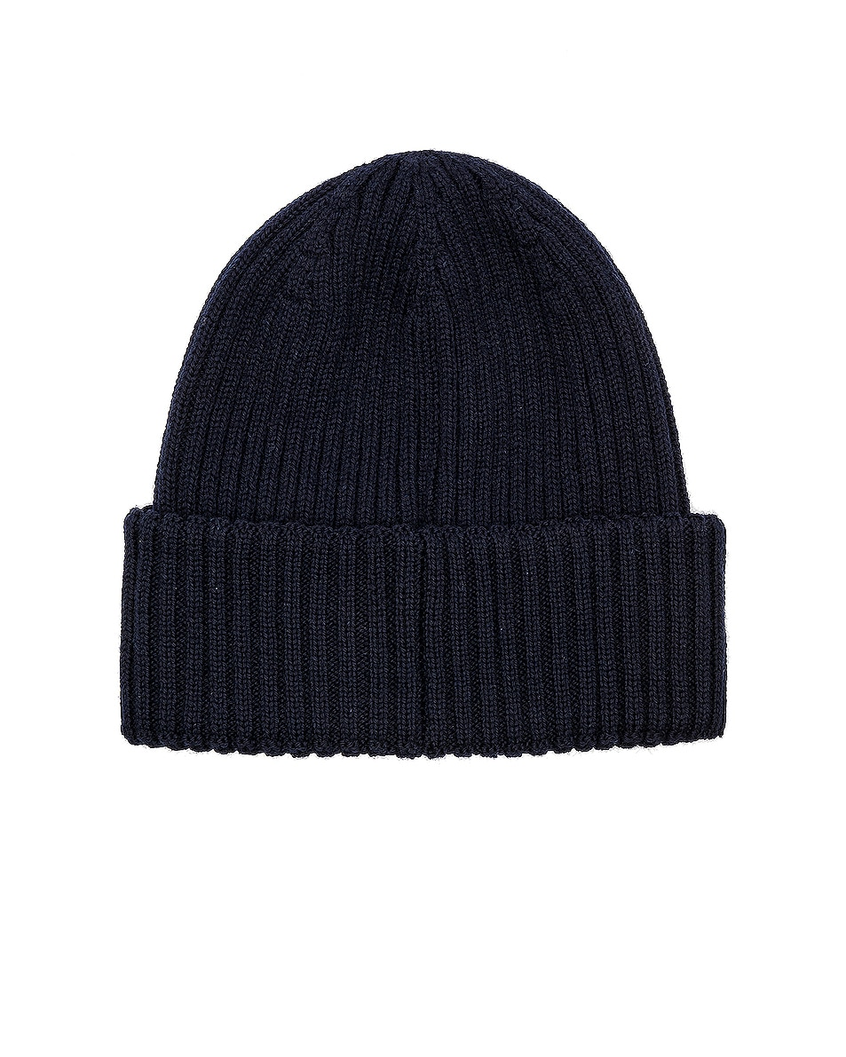 Image 2 of Moncler Beanie in Navy