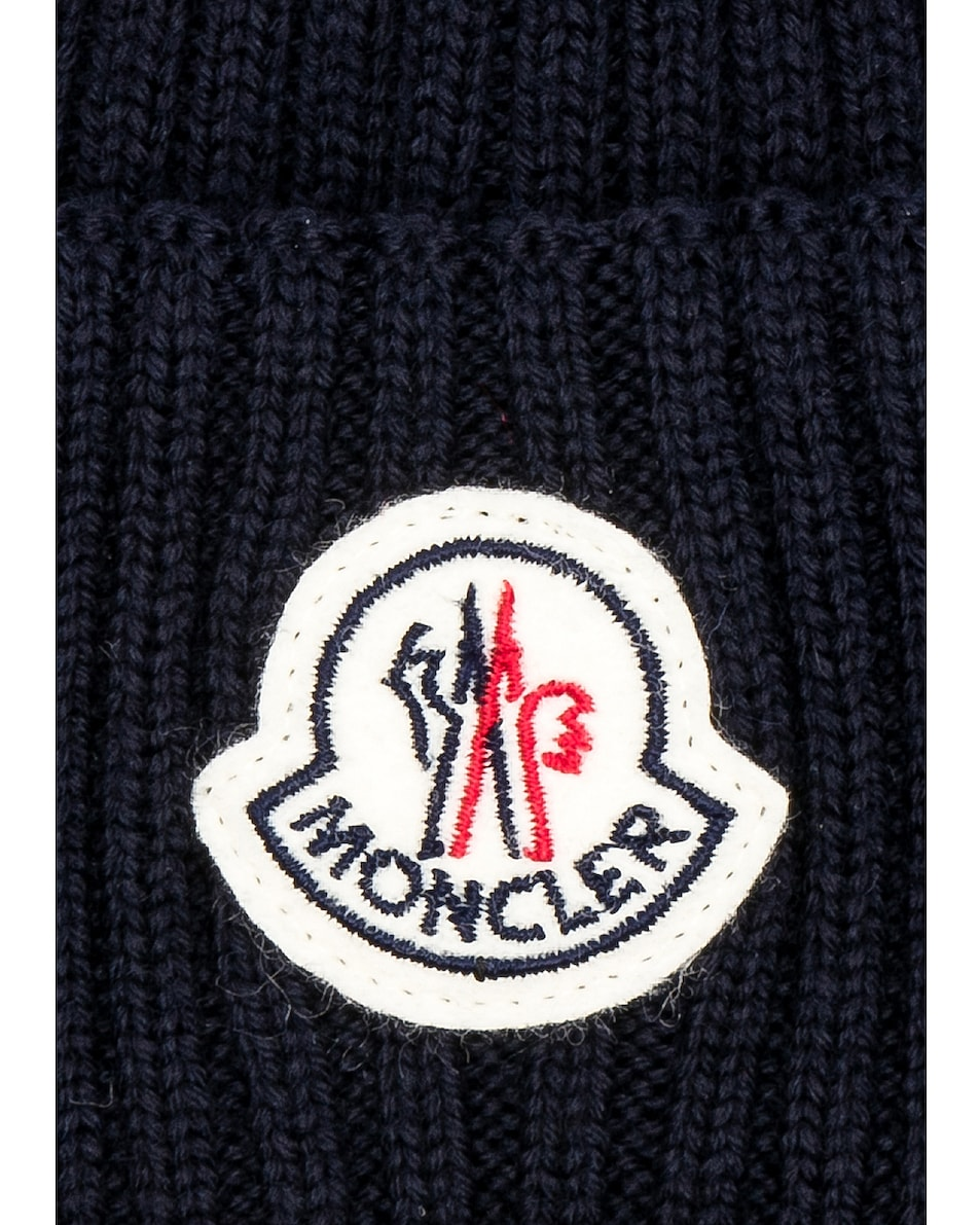 Image 3 of Moncler Beanie in Navy