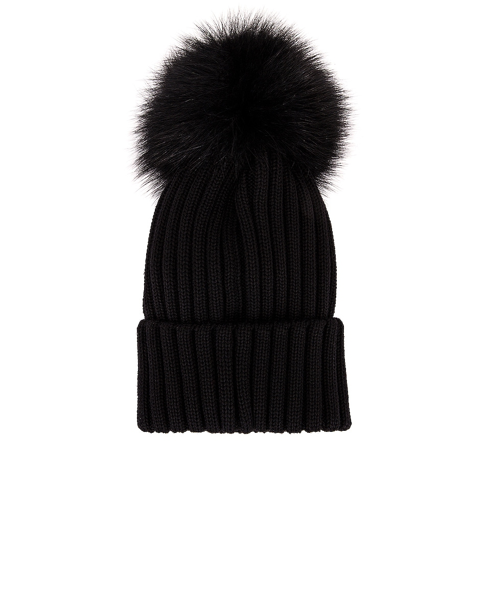Image 2 of Moncler Berretto Tricot Beanie in Black