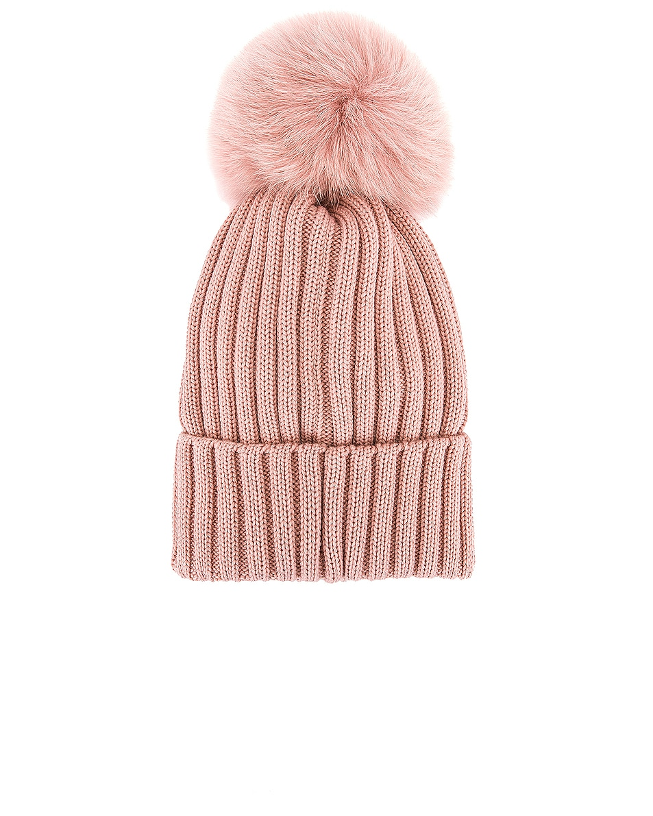 Image 2 of Moncler Berretto Tricot Beanie in Blush