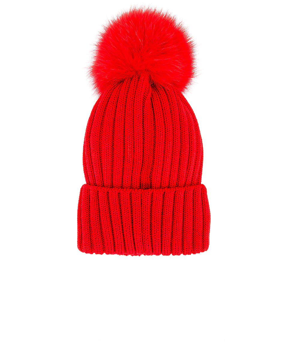 Image 2 of Moncler Berretto Tricot Beanie in Red