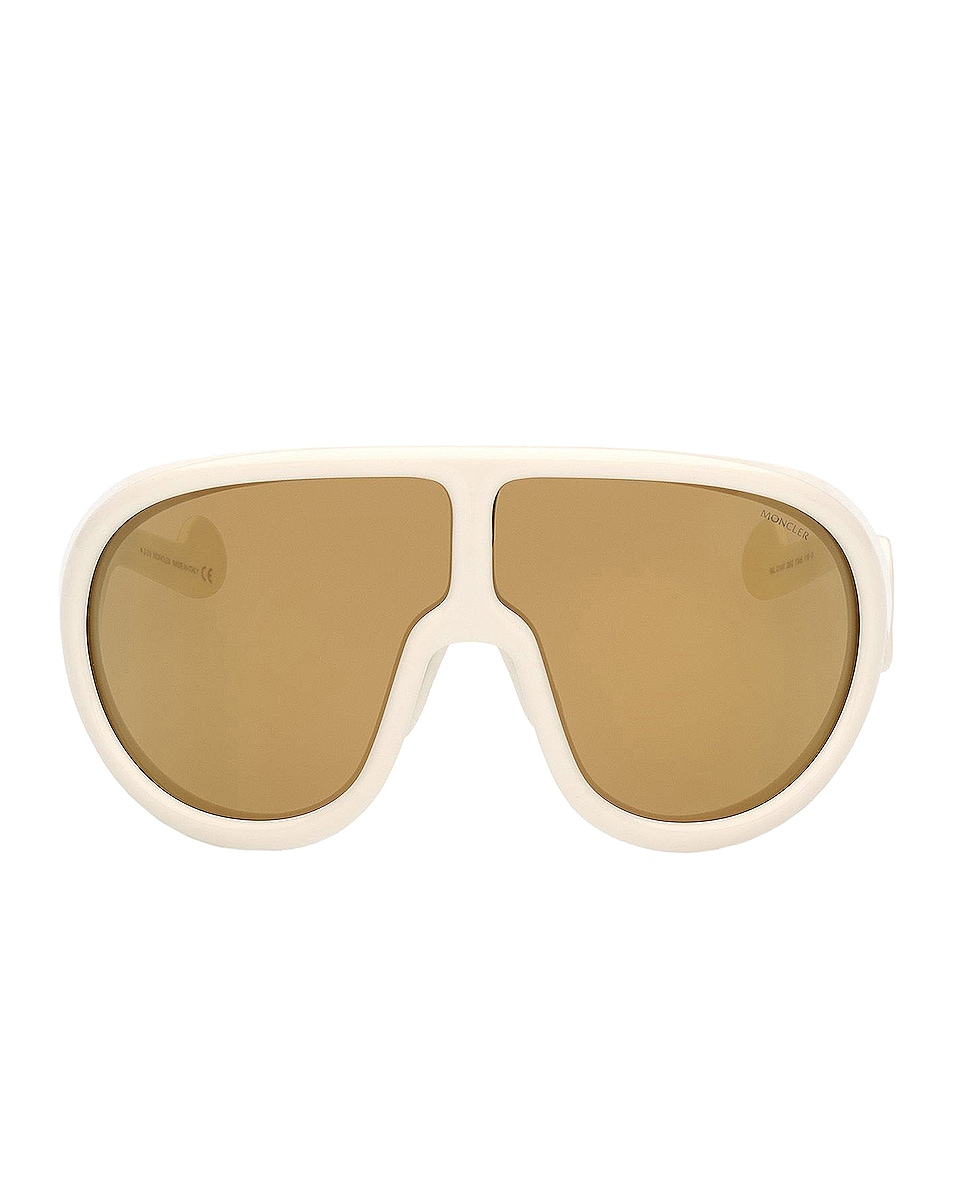 Image 1 of Moncler Shield Sunglasses in White