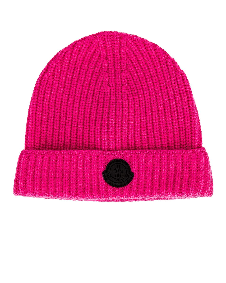 Image 1 of Moncler Beanie in Pink