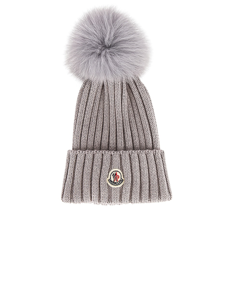 Image 1 of Moncler Berretto Tricot Beanie in Grey