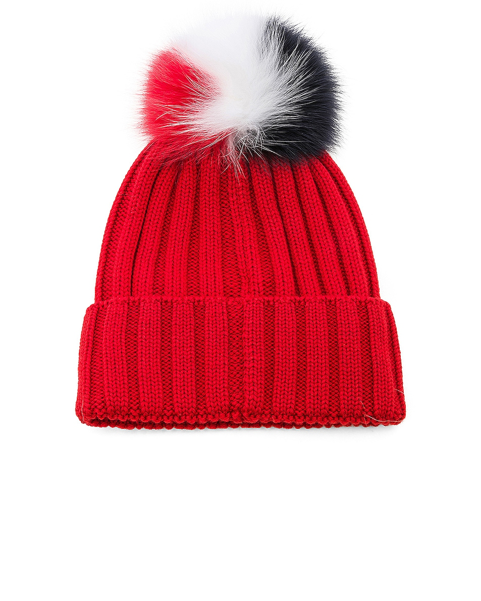 Image 2 of Moncler Beanie in Red