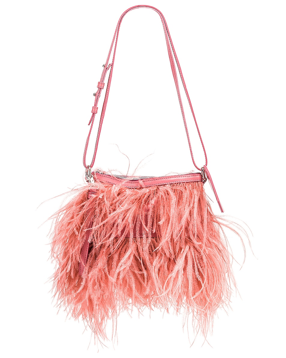 Image 1 of Marques ' Almeida Feather Bag in Pink