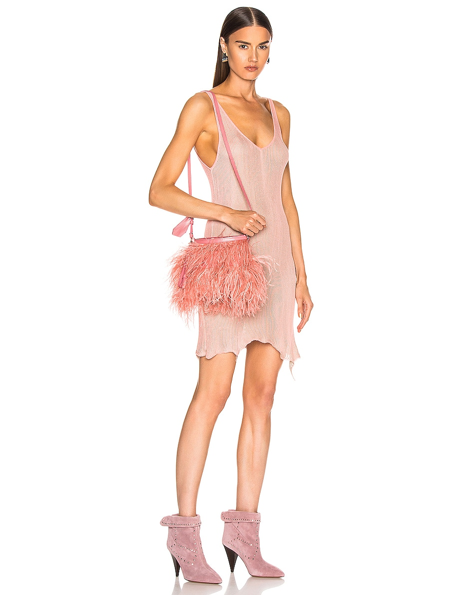 Image 2 of Marques ' Almeida Feather Bag in Pink