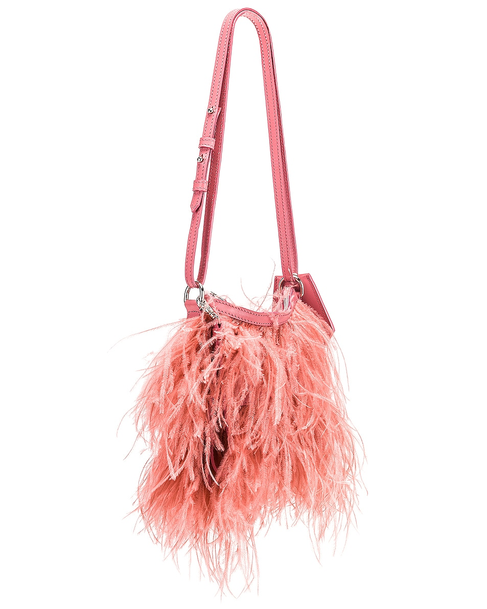 Image 4 of Marques ' Almeida Feather Bag in Pink