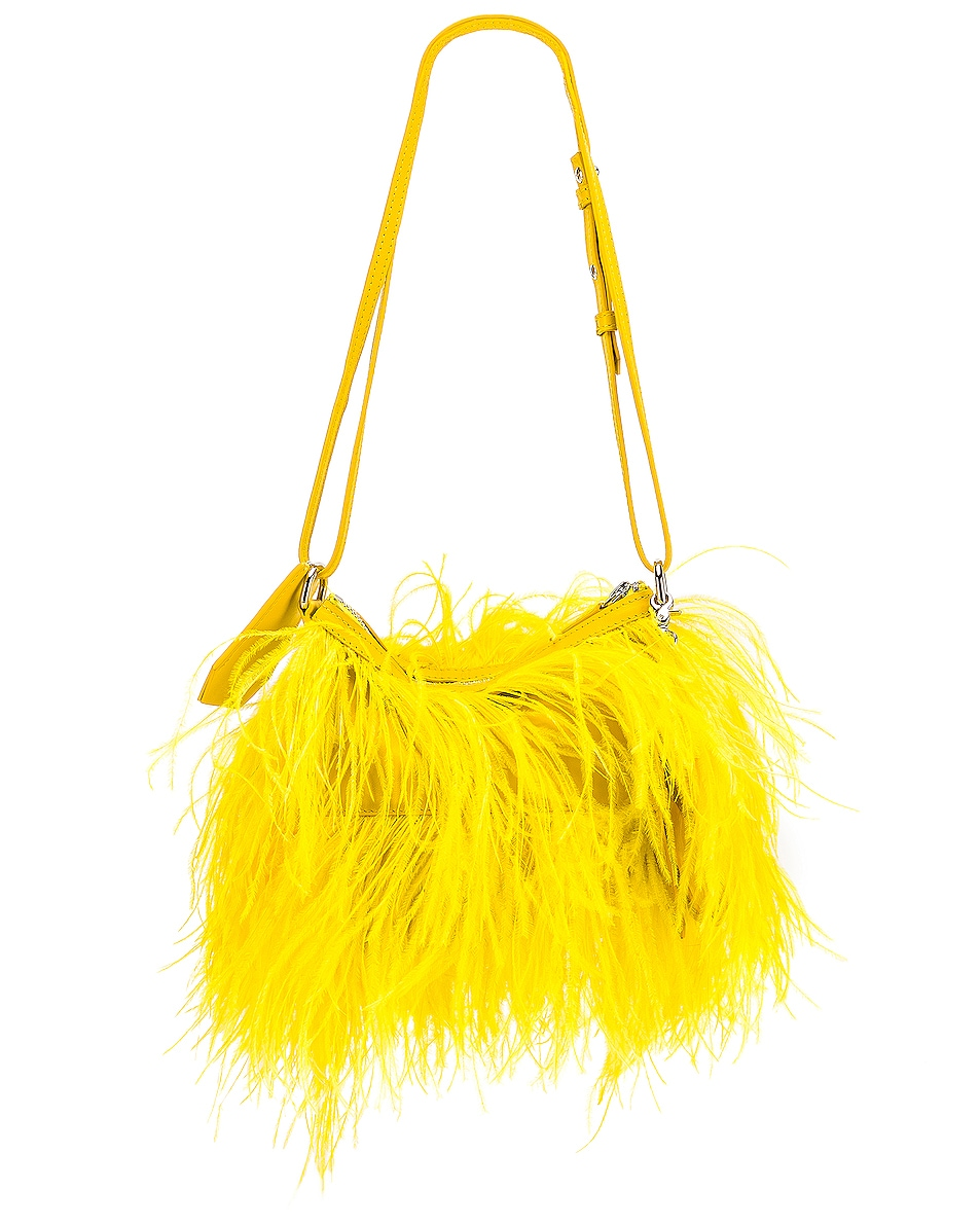 Image 3 of Marques ' Almeida Feather Bag in Yellow