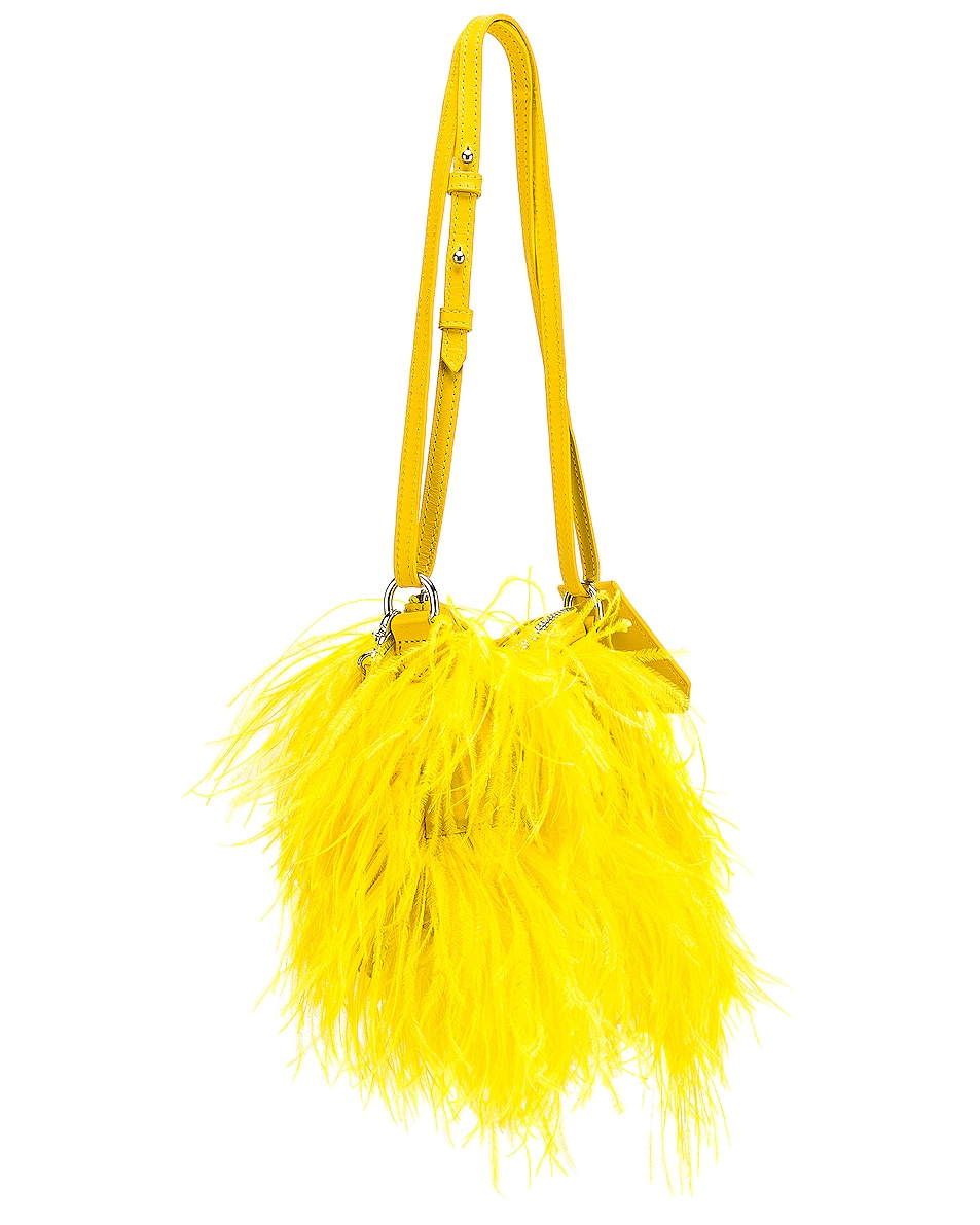 Image 4 of Marques ' Almeida Feather Bag in Yellow