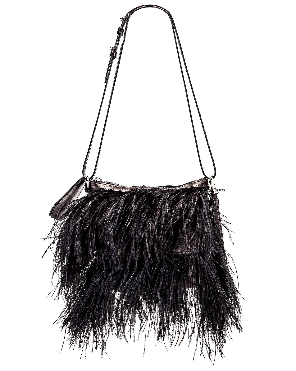 Image 1 of Marques ' Almeida Feather Bag in Black