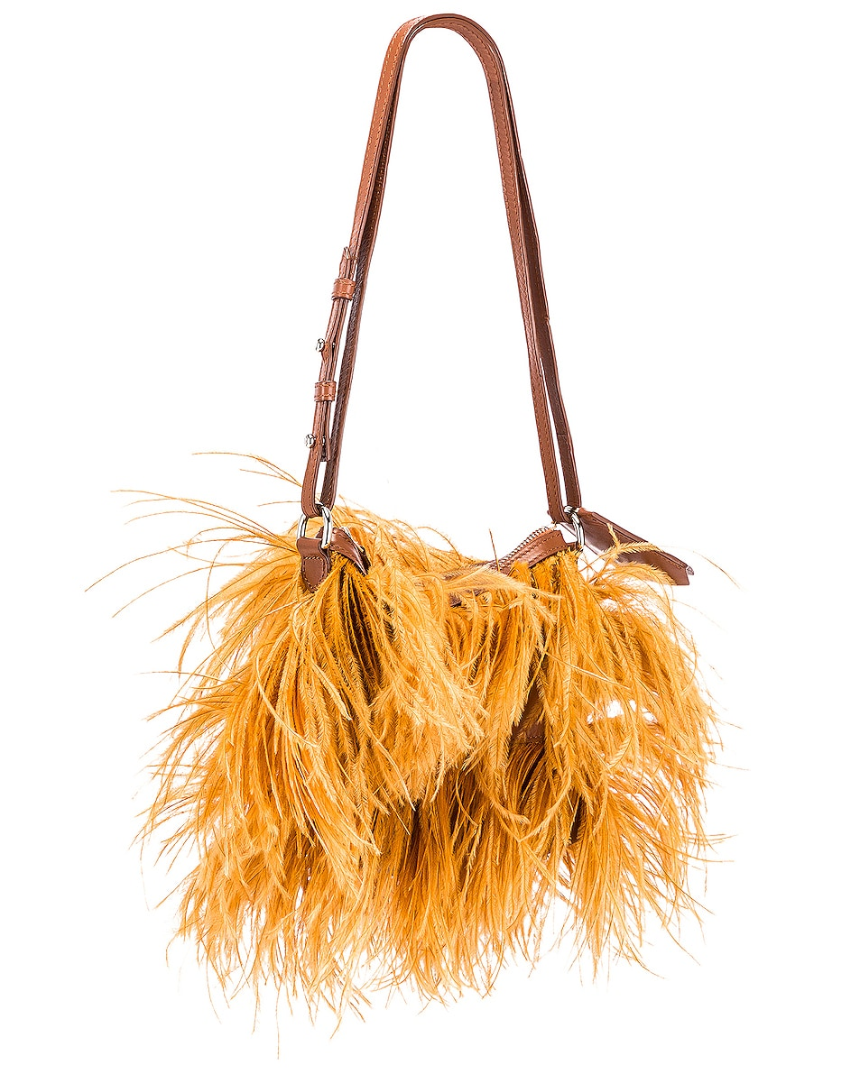 Image 4 of Marques ' Almeida Feather Bag in Brown
