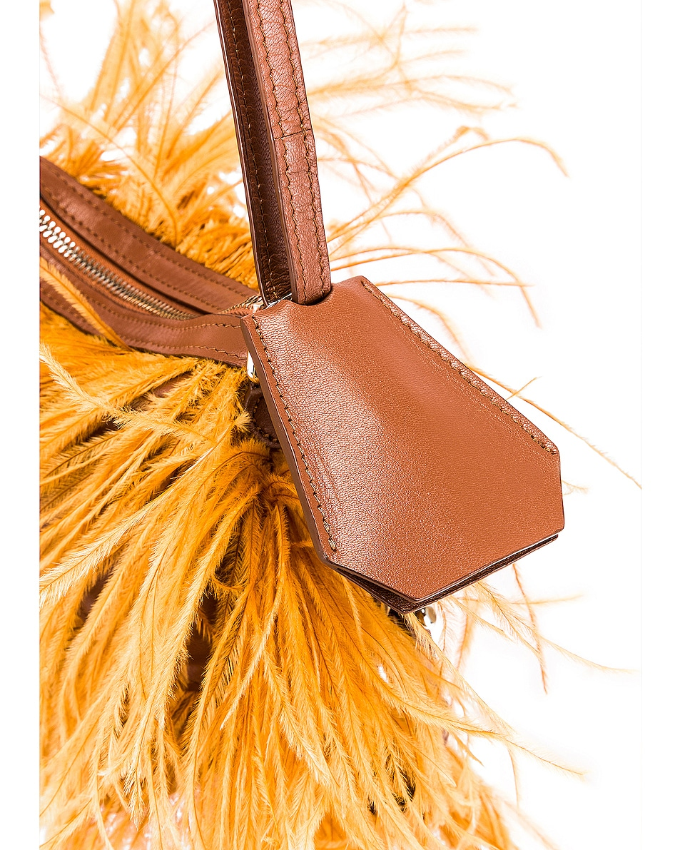 Image 7 of Marques ' Almeida Feather Bag in Brown