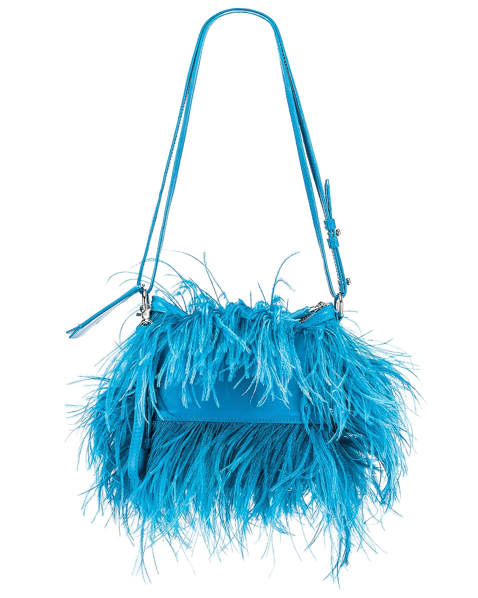 Image 3 of Marques ' Almeida Feather Bag in Turquoise