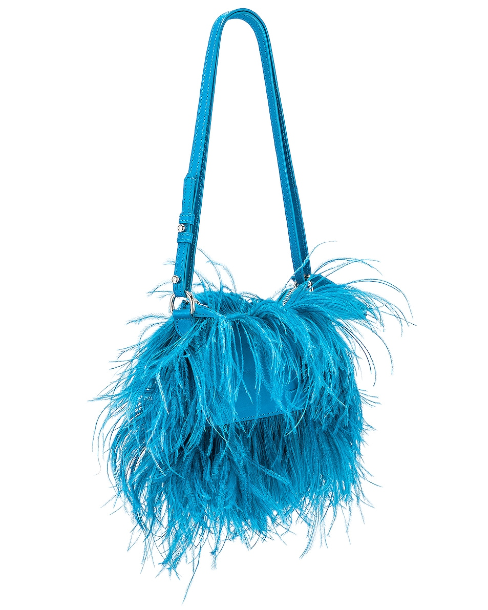 Image 4 of Marques ' Almeida Feather Bag in Turquoise