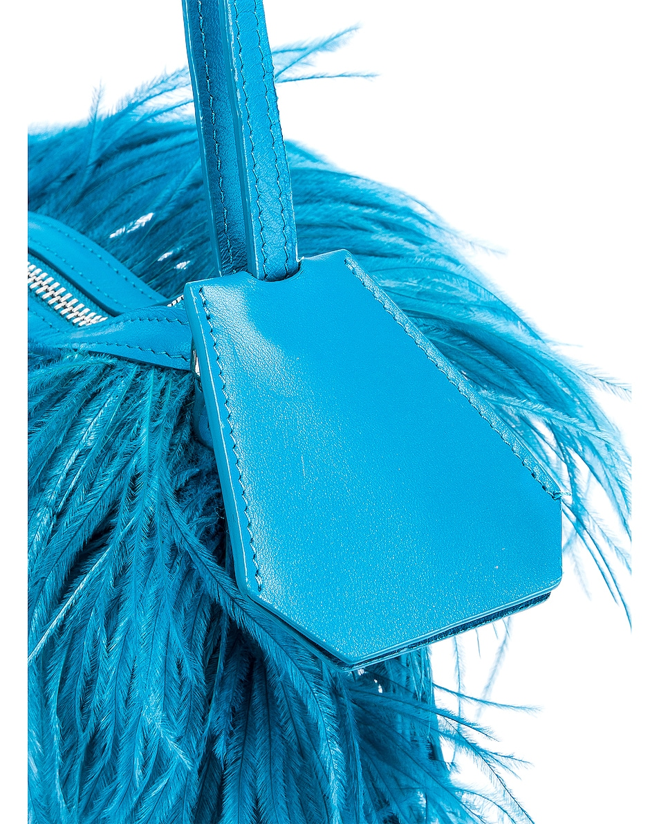 Image 7 of Marques ' Almeida Feather Bag in Turquoise