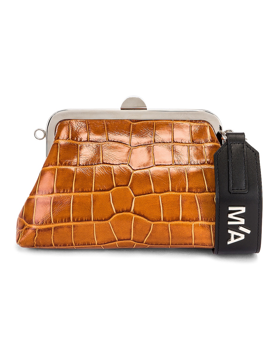 Image 1 of Marques ' Almeida Mini Clasp Bag in Brown