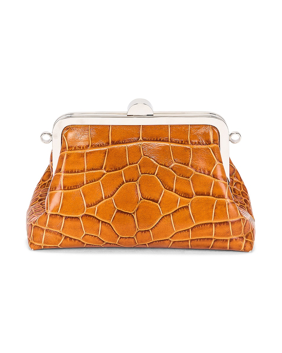 Image 3 of Marques ' Almeida Mini Clasp Bag in Brown