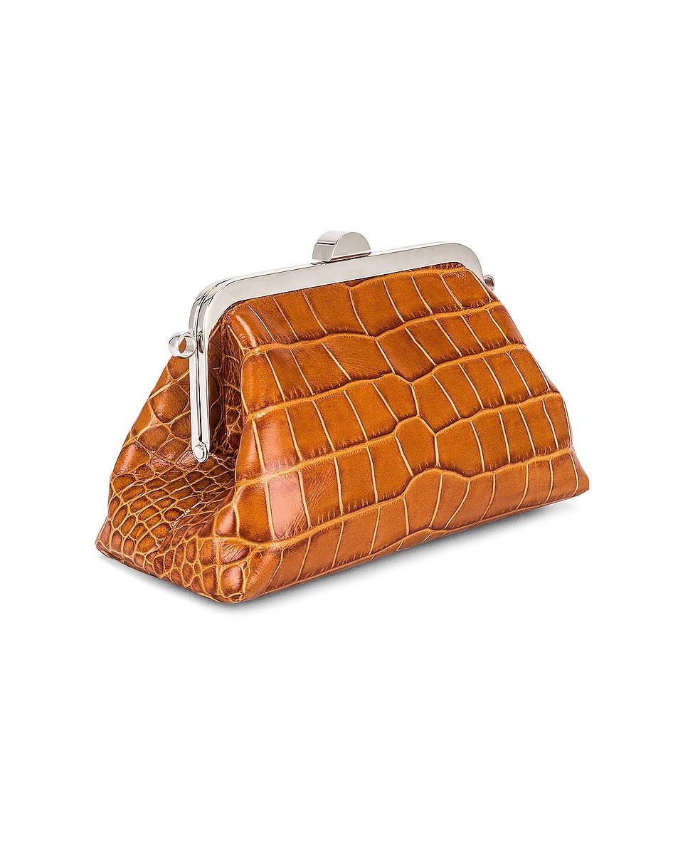 Image 4 of Marques ' Almeida Mini Clasp Bag in Brown
