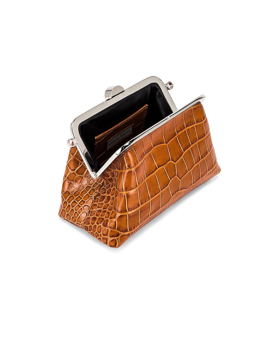 Image 5 of Marques ' Almeida Mini Clasp Bag in Brown