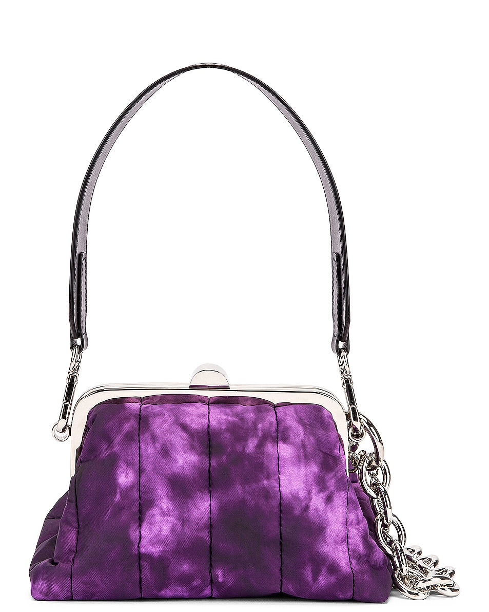 Image 1 of Marques ' Almeida Mini Padded Clasp Bag in Purple Tie Dye